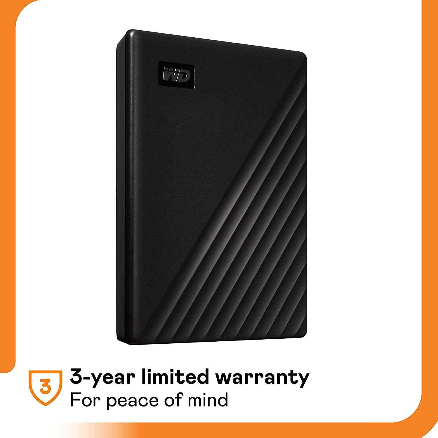 WD 2TB My Passport Portable External Hard Drive, USB 3.0, Compatible with PC, PS4 & Xbox (Black) - with Automatic Backup, 256Bit AES Hardware Encryption & Software Protection (WDBYVG0020BBK-WESN)