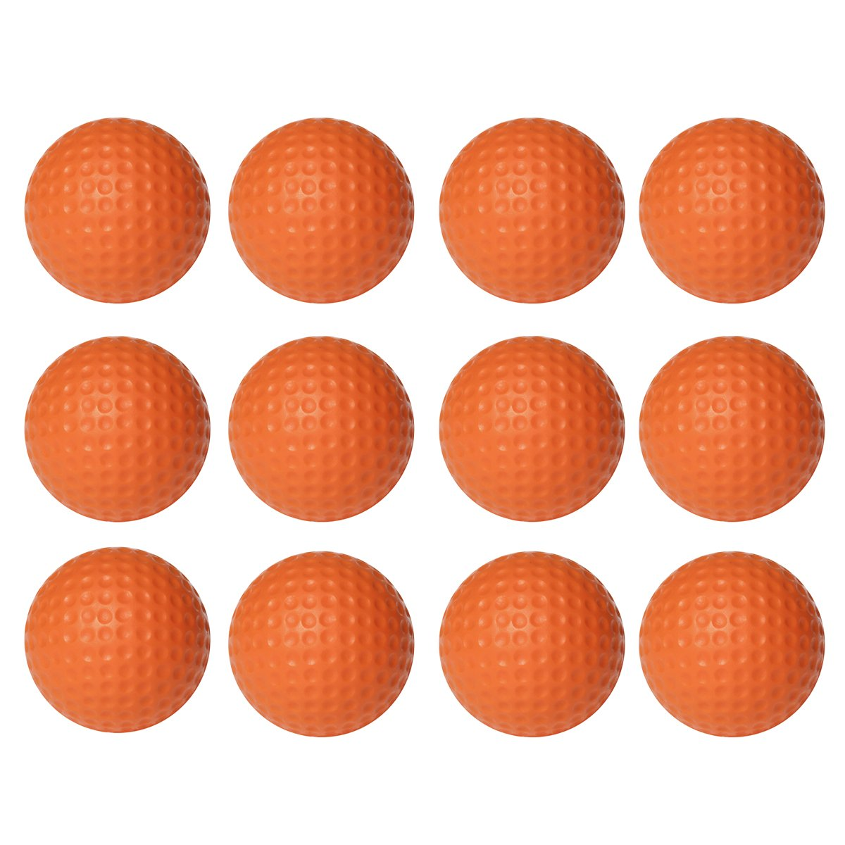 WINOMO練習ゴルフボールPU Golfballsインドアアウトドアトレーニング12個(オレンジ)   B075BLQWQB