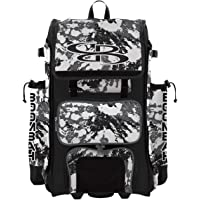 """Boombah Rolling Catchers Superpack Baseball/Softball Gear Bag Rocket - 23-1/2"""" x 13-1/2"""" x 9-1/2"""" - Multiple Colors…"""