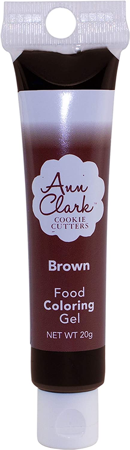 Ann Clark Cookie Cutters Brown Food Coloring Gel, 20g