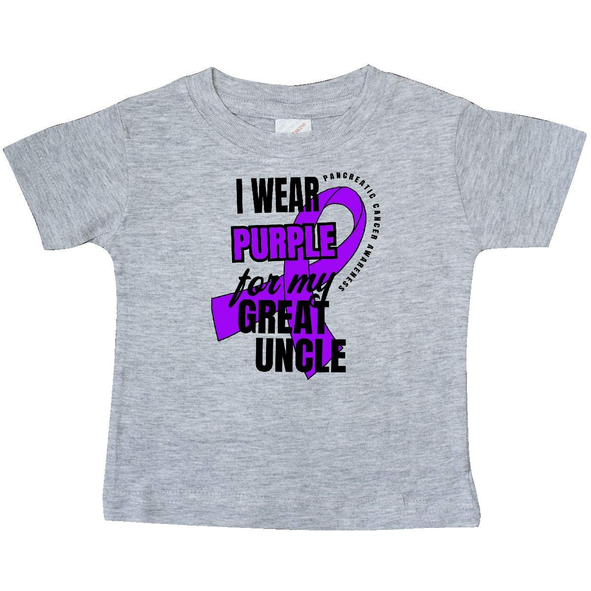 inktastic I Wear Purple for My Great Uncle Pancreatic Cancer Baby T-Shirt