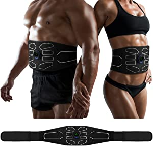 MarCoolTrip MZ Abs Toning Belt, Muscle Toner, Abdominal Toning Belt Workout Portable Fitness Workout Equipment Home Office for Men Women