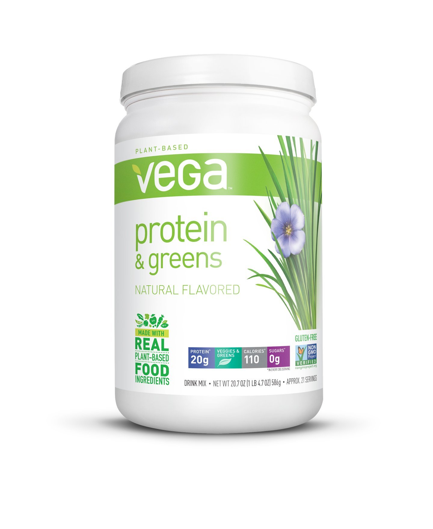 Vega Protein & Greens, Natural, 1.29 lb, 21 Servings