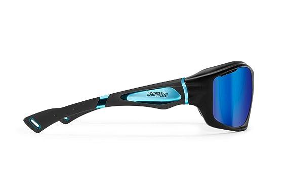 BERTONI Gafas Deportivas Polarizadas Hidrofóbicas - Envolventes a Prueba de Viento - para Ciclismo Carrera Deporte Acuaticos Esqui Pesca Kitesurf by Bertoni ...