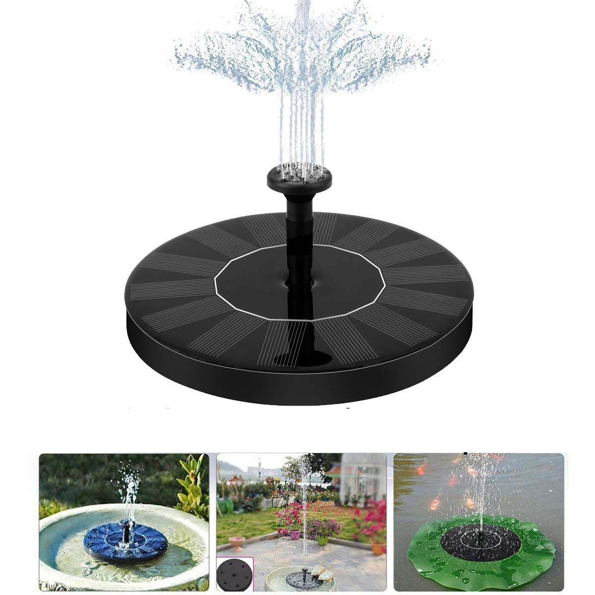 Solar Fountain Pump Solar Powered Fountain Pump for Bird Bath Free Standing Floating Fountain Pump Kit for Garden Patio Lawn Pool Decoration