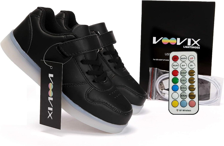 Voovix Bambini LED Light-up Scarpe con Telecomando Low-Top Lampeggiante Sneakers con Luci per Ragazze e Ragazzi