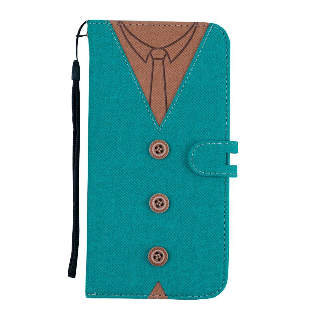 MoreChioce Compatible avec Coque iPhone 8 Plus,/étui en Cuir Compatible avec iPhone 7 Plus,2 en 1 D/étachable Bleu Housse /à Rabat Clapet Case Portefeuille Coque de Protection Antichoc Shell Magn/étique