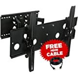 Sony Bravia KDL-52V5100 Compatible Dual-Arm Swivel Wall Mount **Free HDMI Cable**
