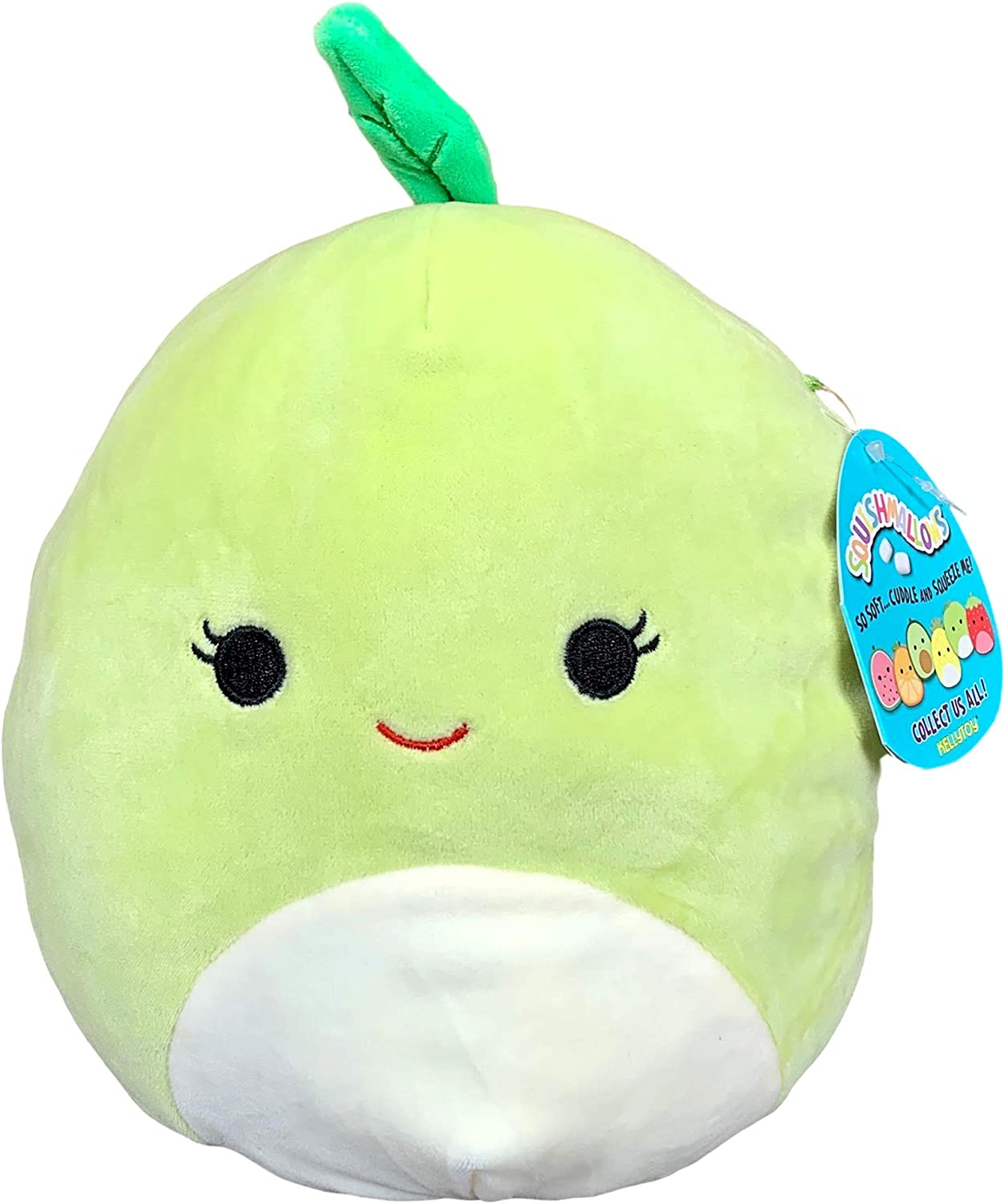 Squishmallow 8 Inch Ashley Apple Plush Toy, Super Pillow Soft Plush Stuffed Animal, Green