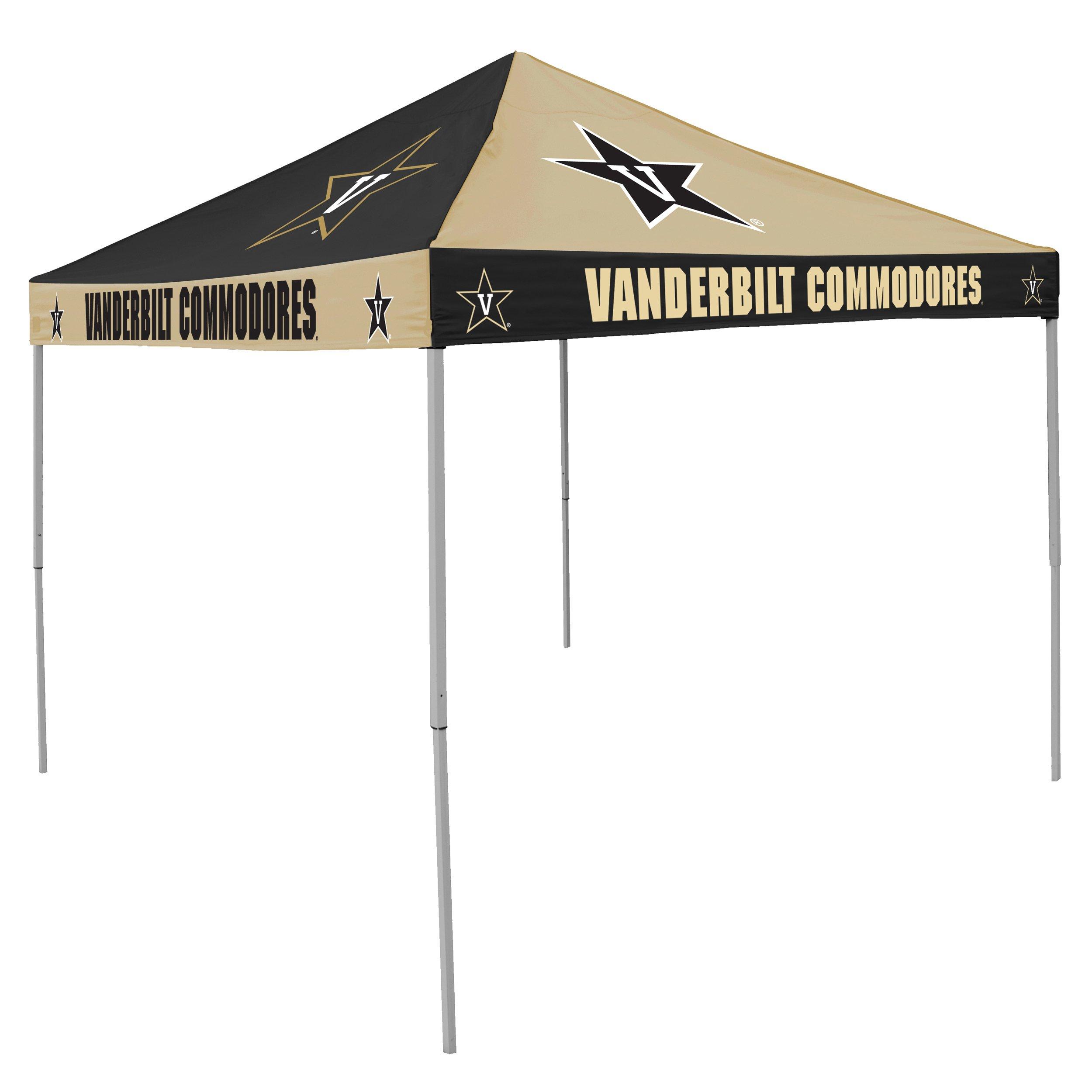 Logo Brands NCAA CB Tent, Vanderbilt, 9 foot X 9 foot