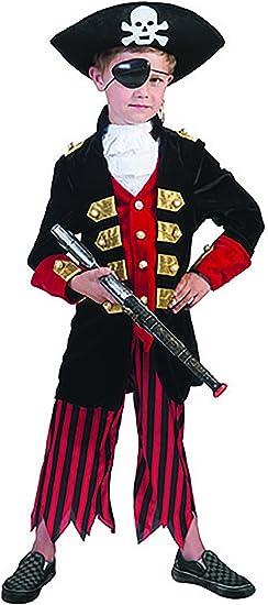 mágica Clown – corsario Disfraz Pirata para Niños, 116 – 170, 6 ...