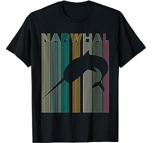 0291e867 Kids Narwhal T shirt Retro Narwhal Shirt Women Men Boys