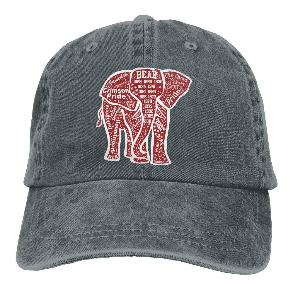 0849bf5bb9e0b Amazon.com  Unique Alabama Red Elephant Cowboy Hat Vintage Chic Denim Baseball  Caps Trucker Hats  Clothing