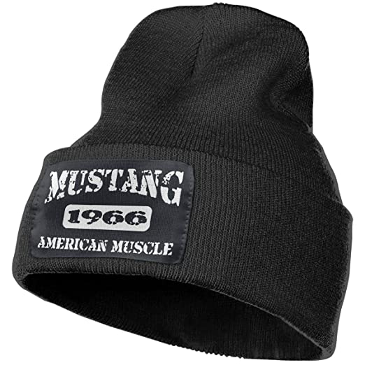 Amazon.com  Ford Mustang Unisex Beanie Hat Winter Warm Knit Skull ... 83e104ade80