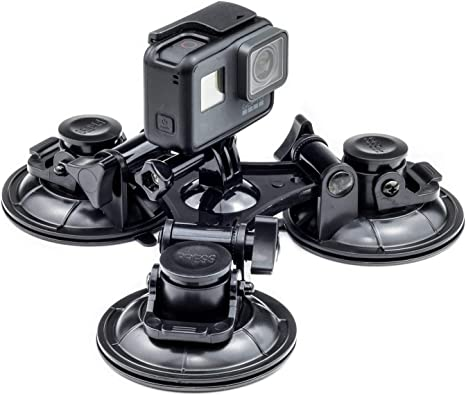Action Camera Car Windshield Window Triple Suction Cup Mount Holder For GoPro