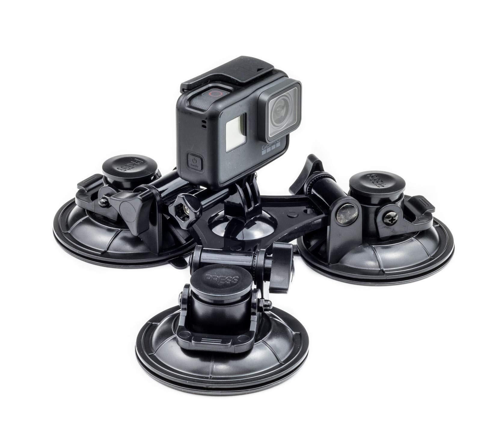 Triple Suction Cups for GoPro Cameras Mount on Car Windshield Window Compatible with GoPro Hero 7//6//5//4//3+//3