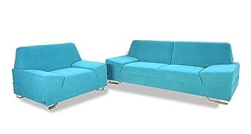 My Home Monaco - Conjunto de sofá de 3 plazas y sillón, tela ...