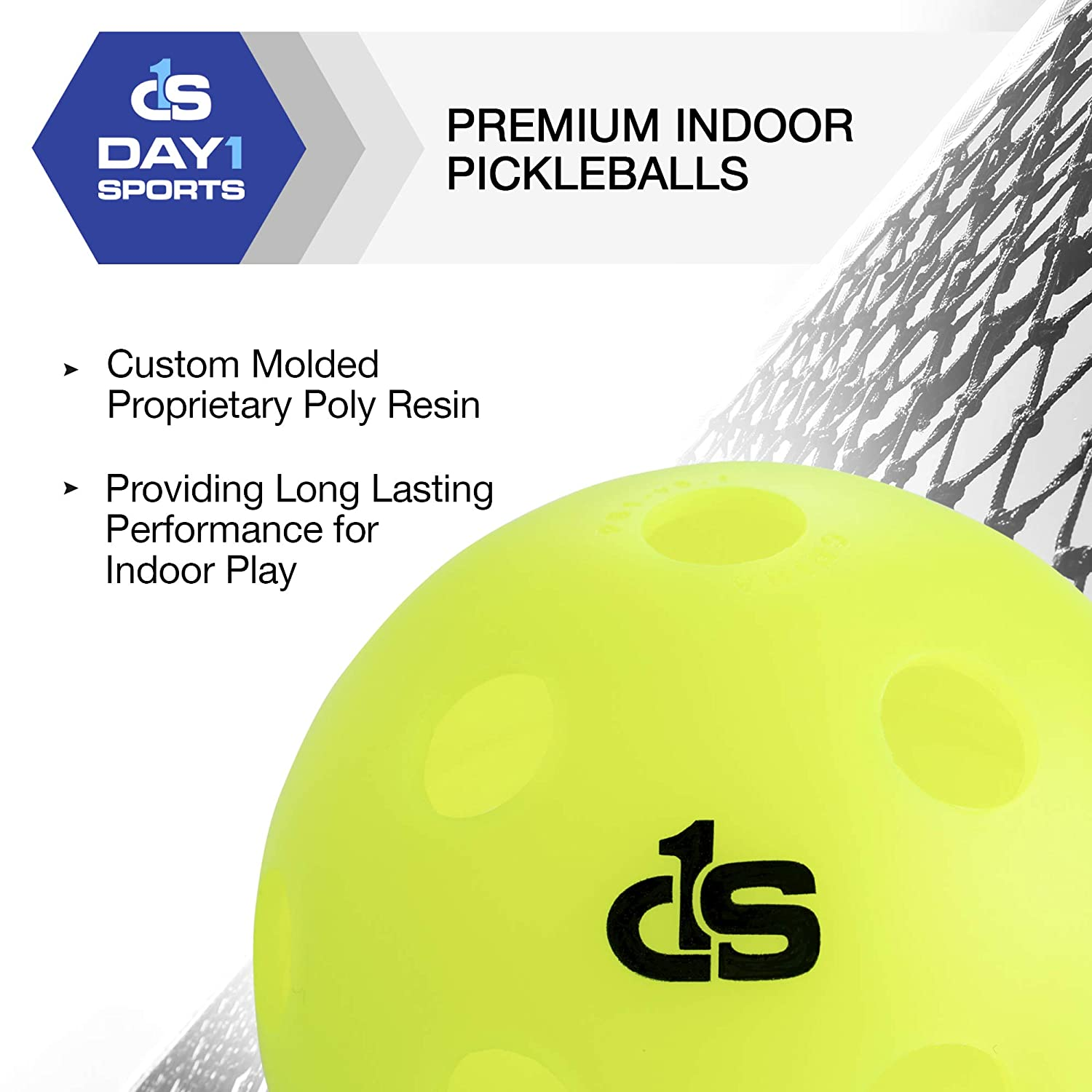 Amazon.com : Day 1 Sports Indoor Pickleball Balls in 3 Pack - Professional, Durable Pickleballs - High Vis Neon Green Pickle Ball Set Inside Accessories ...