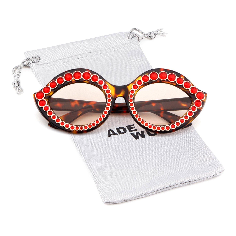Crystal-embellished cat-eye acetate sunglasses for women