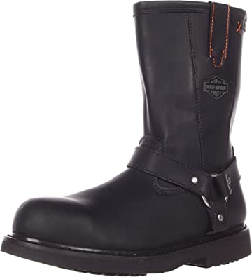 Amazon.com | Harley-Davidson Men's Bill Steel Toe Harness Boot ...