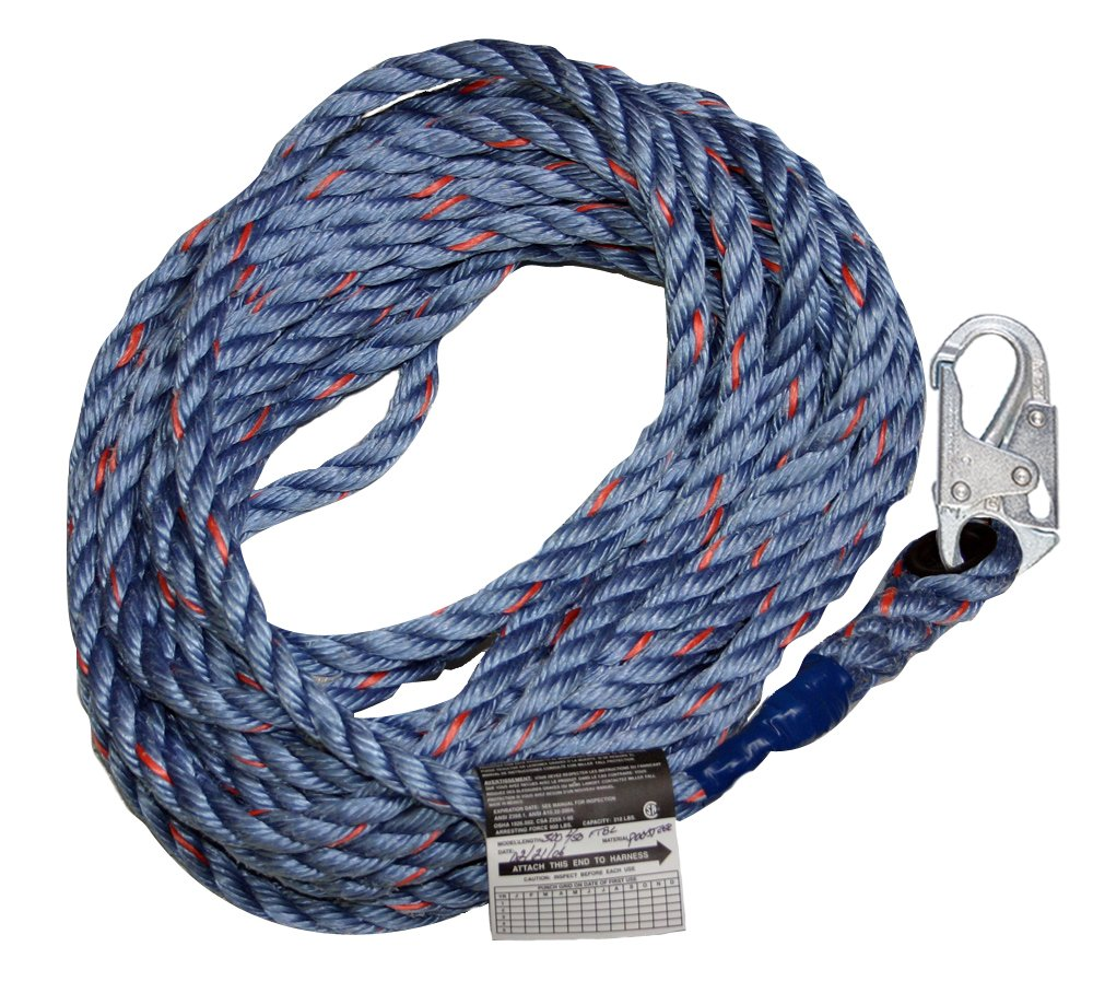 Miller by Honeywell 300L-Z7/25FTBL Polyester Lanyard with Snap & Loop-Ansiz7 by Honeywell