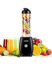 Aicok Mini Blender, Smoothie Blender 300W avec 600ml Bouteille Tritan, Smoothie Mixeur 4 Lames en Acier Inoxydable, pour Préparer des Smoothies, des Shakes