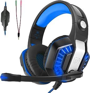 Auriculares Gaming, LATEC Estéreo PS4 Cancelación De Ruido Gaming ...