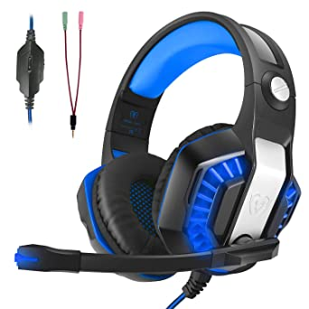 Auriculares Gaming, LATEC Estéreo PS4 Cancelación De Ruido Gaming Headset para PC, Controlador de