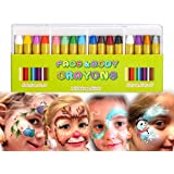 MiMoo 16 Colors Face Paint set Crayon for Baby, Non-toxic Body Paint Sticks Body Tattoo Crayons Kit for Kids, Children, Toddlers, World Cup, Set of 16