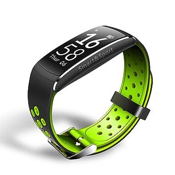 Pulsómetros,Fitness Monitores de actividad,24 horas pulsómetro,Azul ...