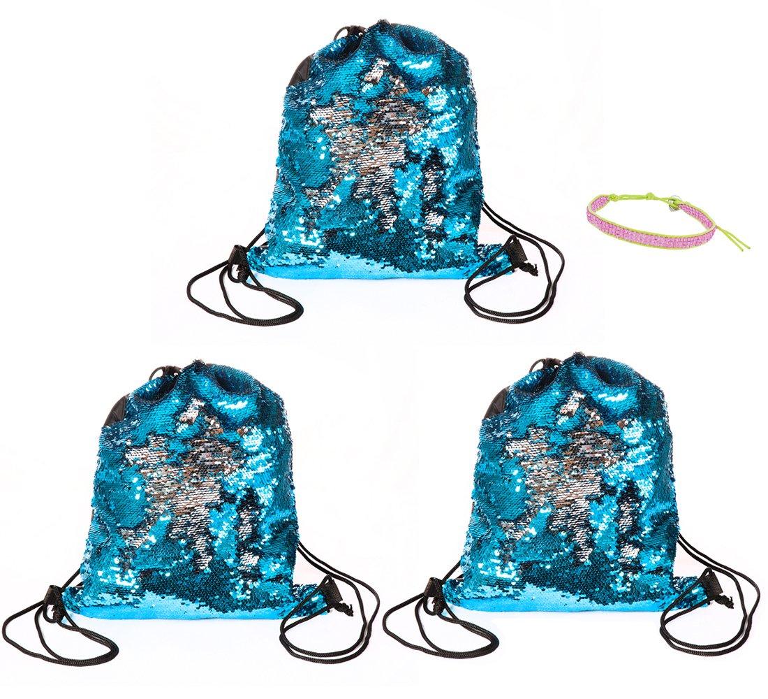 Cheerleading Beach Poolside Travel Gymnastics Zoombie Novelties Dance Gym Shop Zoombie Flip Sequins Drawstring Bag Mermaid Sequins
