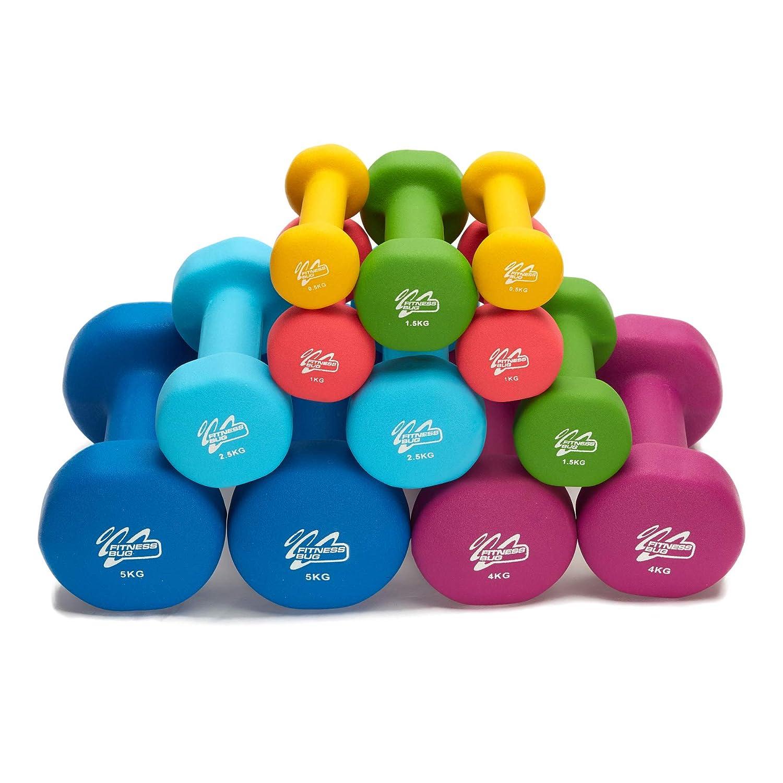 Pesas de mancuerna de Neopreno para Gimnasio en casa, Fitness, aeróbico, Hierro, par de Manos, Green - 2 x 1.5kg=3kg: Amazon.es: Deportes y aire libre