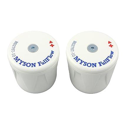 Myson FULLFLOW replacement spare WHEELHEAD BS2767-10 radiator valve on off  white plastic head top CAP only x 2  Amazon.co.uk  DIY   Tools 364bfe3a229