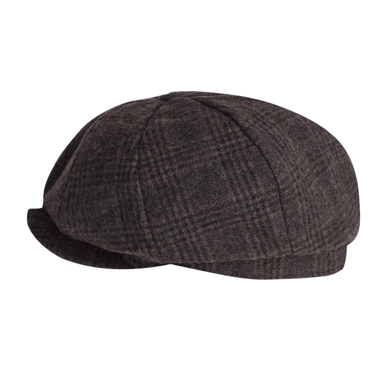 Mens Classic Leisure Ivy Caps Flat Caps Winter Windproof Baker Newsboy Caps
