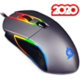 ⭐️KLIM™ AIM Chroma RGB Gaming Mouse - PC PS4 - PRECISE - Wired USB - Adjustable 500 to 7000 DPI - Programmable Buttons - Comfortable for all Hand Sizes - Ambidextrous Excellent Grip Gamer Gaming [ New 2020 Version ]