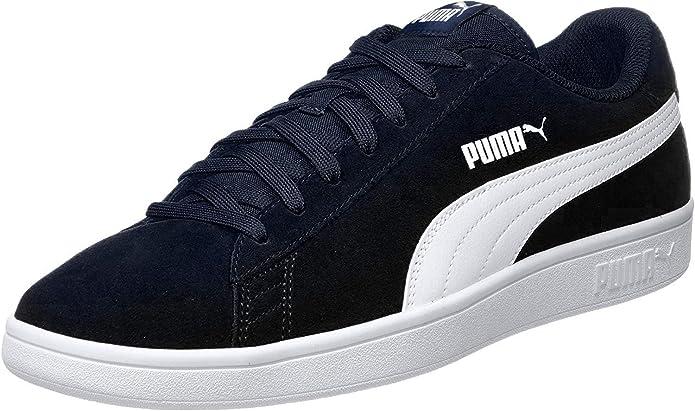 Puma Smash V2 Sneakers Unisex Damen Herren Dunkelblau/Weiß