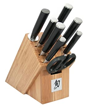 Shun DM2004B Classic 9-Piece Knife Set with Bamboo Block