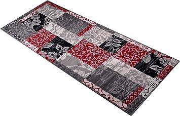 Läufer 80x300 teppich patchwork in grau teppichgröße läufer 80 x 300 cm