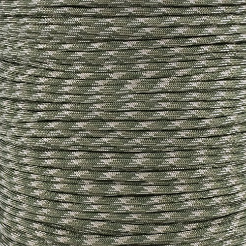Military Parachute (Mil Spec Paracord MIL-C-5040H Type III Built for Survival Titanium Series made with Genuine Authentic 7 Strand 550 LB True 550 Military Specification Strength Nylon Kermantle Tactical Parachute Cord)