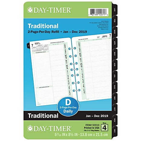 amazon com at a glance 2019 daily planner refill 5 1 2 x 8 1 2