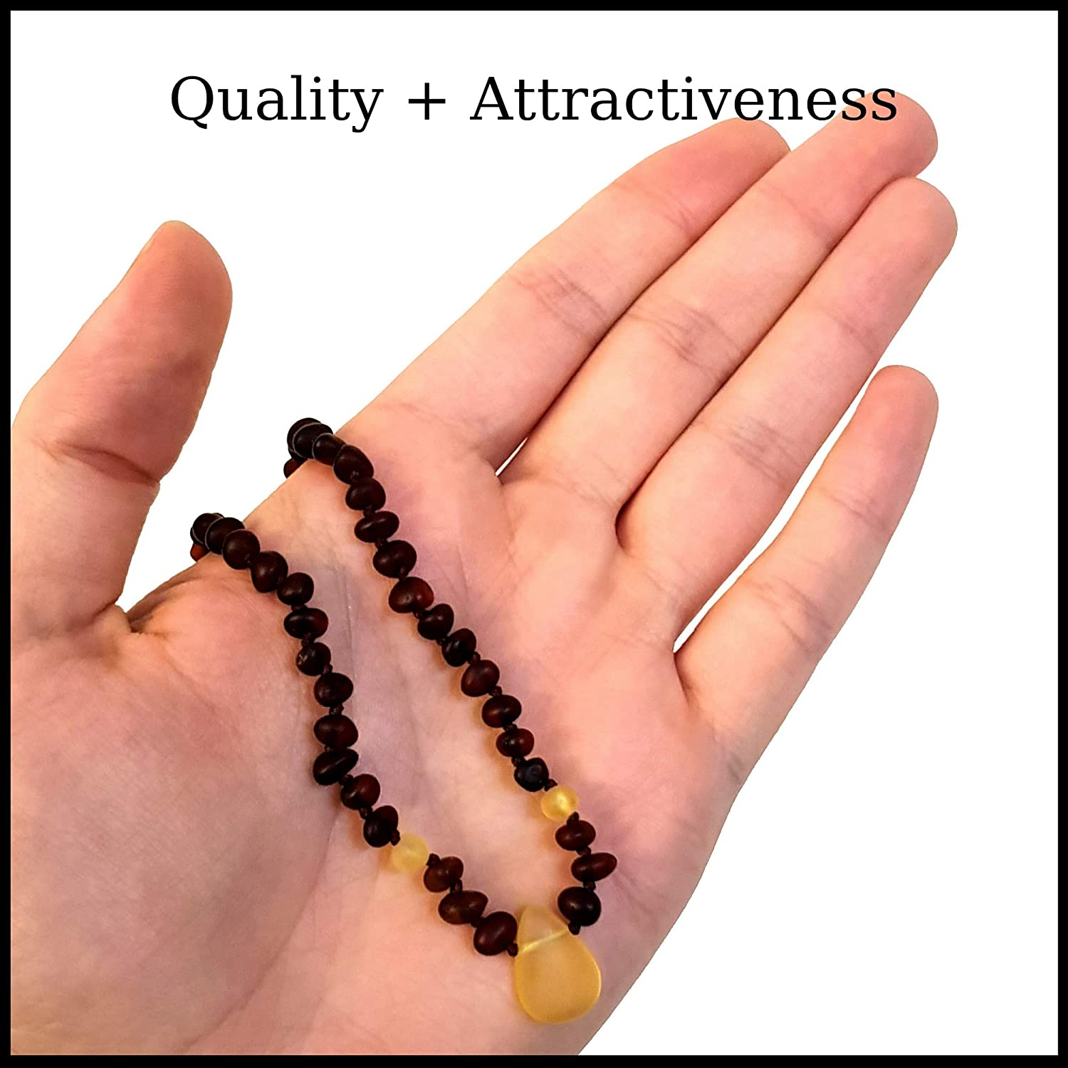 32 cm boy Girl Infants Anti-inflammatory, Drooling /& Natural Teething Pain Relief Authentic Raw Baltic Amber Teething Necklace for Babies Toddlers ATN01005 Ravan/'s Perfect Gift for Baby Shower