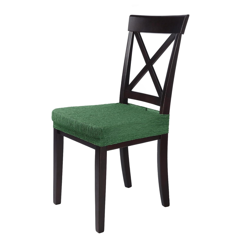 SCHEFFLER-Home Jara 2 Fundas para Asiento de sillas, Estirable Cubiertas de Asiento, extraíble elástica Funda, Tela Lycra con Banda elástica para un ...