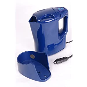 Travel Kettle 12v 170w With Stand 'Aqua Blue'