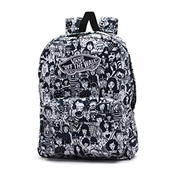 350ad2acf9 Vans Backpack - Realm black white  Amazon.co.uk  Sports   Outdoors