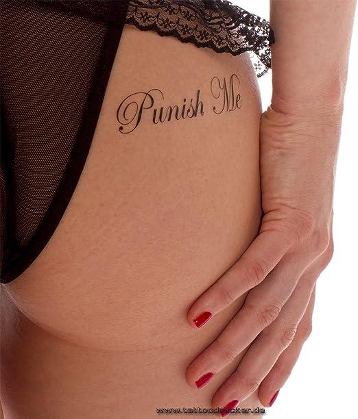 5 X Punish Me Fuck Me Lettrage De Tatouage En Noir Sexy Kinky Tattoo 5 Amazon Fr Cuisine Maison