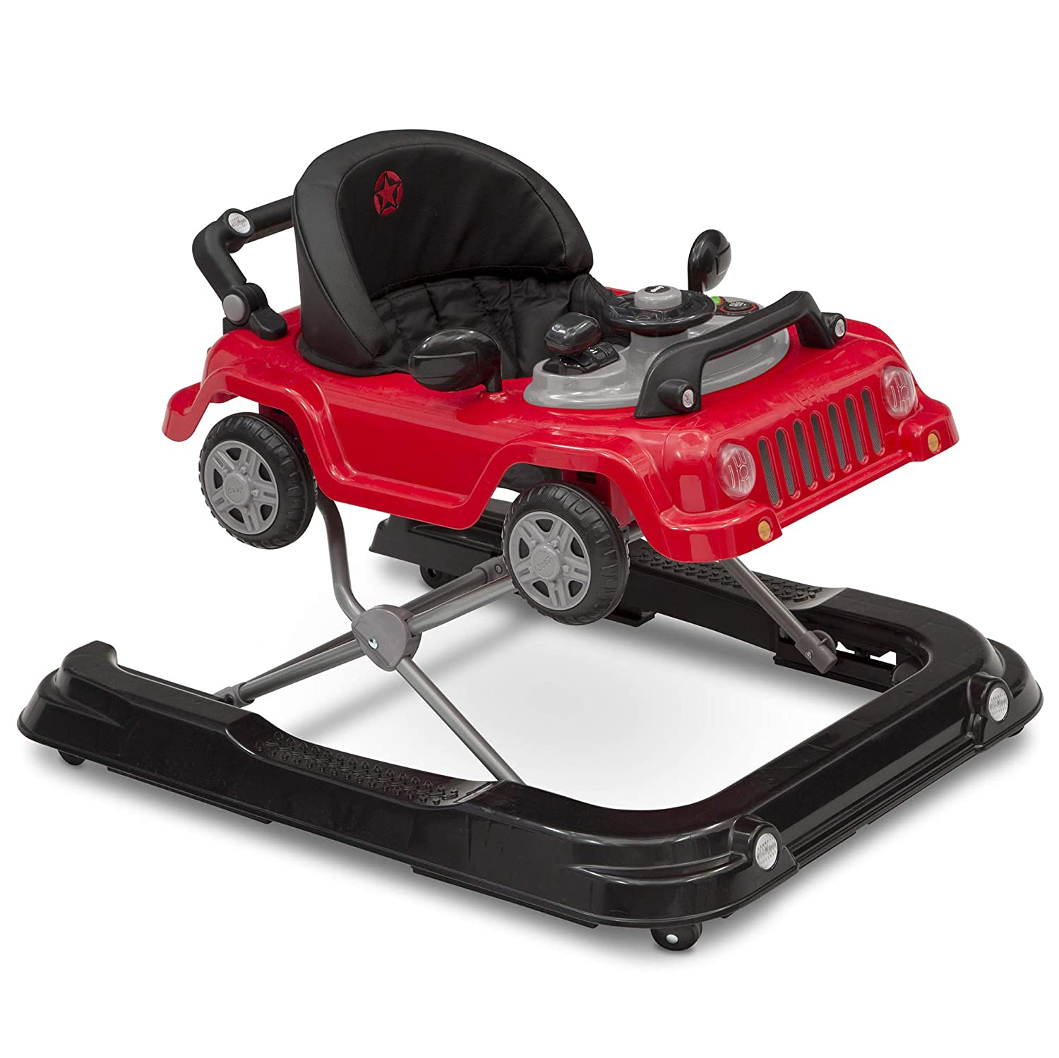 Jeep Classic Wrangler 3-in-1 Grow with Me Walker, Red Delta Enterprise Corp - PLA 22508-2312