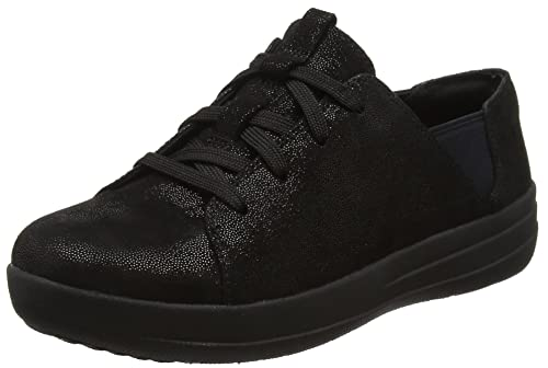 Fitflop Fsporty TM Lace Up, Sneaker a Collo Basso Donna, Nero (Black Leather), 36 EU