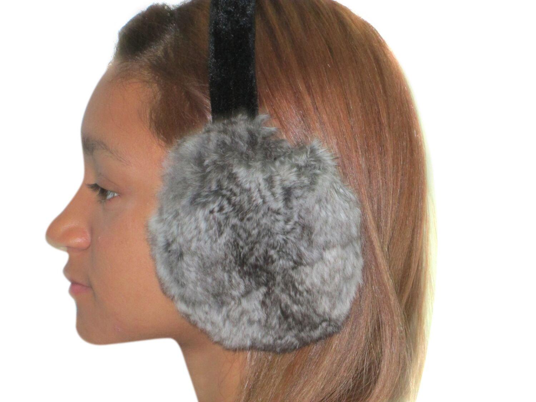 Second Best Natural Chinchilla Ear Muffs by FursNewYork