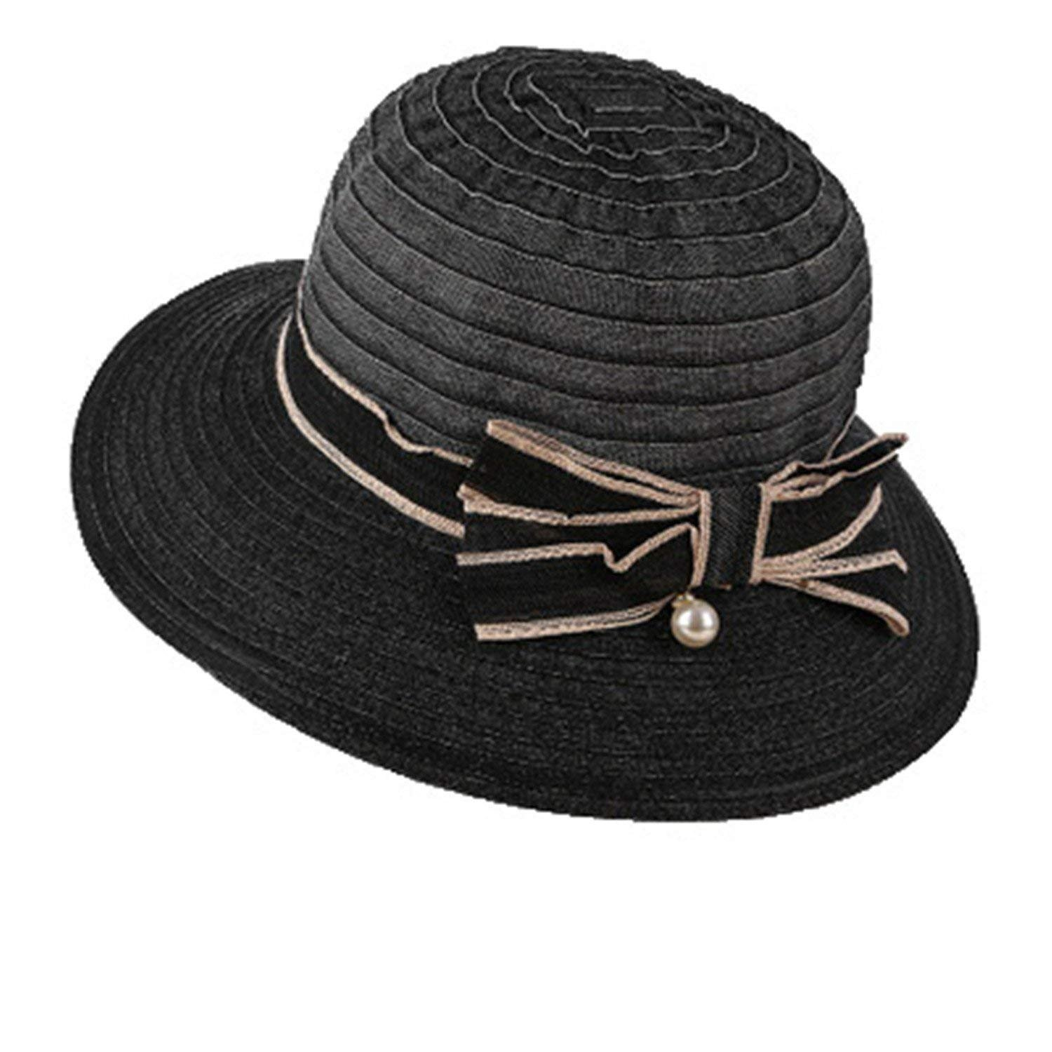 bac6d4b71c4 Amazon.com  2018 Ladies Summer Hats with Brim New Brand Straw Hats for Women  Beach Sun Hats Sun Protection Chapeau Femme