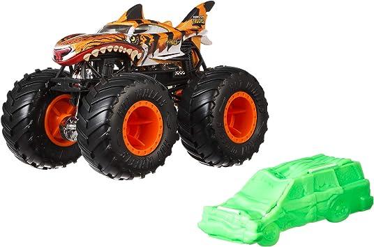 Hot Wheels Gnj61 Monster Trucks 1 64 Tiger Shark Vehicle Multi Colour Amazon Co Uk Toys Games